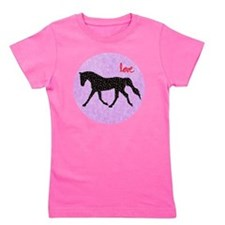 Horse Love and Hearts Girl's Tee