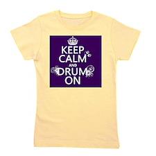 Keep Calm and Drum On (grunge) Girl's Tee