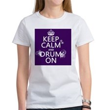 Keep Calm and Drum On (grunge) Tee