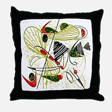 atomic funky king duvet Throw Pillow