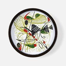 atomic funky king duvet Wall Clock