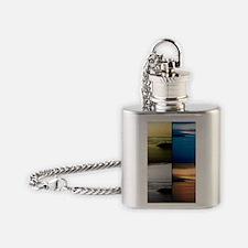 Quadriptych seascape Flask Necklace