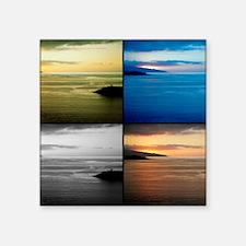 """Quadriptych seascape Square Sticker 3"""" x 3"""""""