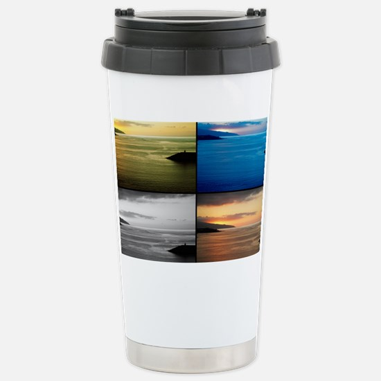 Quadriptych seascape Stainless Steel Travel Mug
