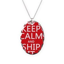 Keep Calm and Ship It (fandom) Necklace