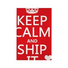 Keep Calm and Ship It (fandom) Rectangle Magnet