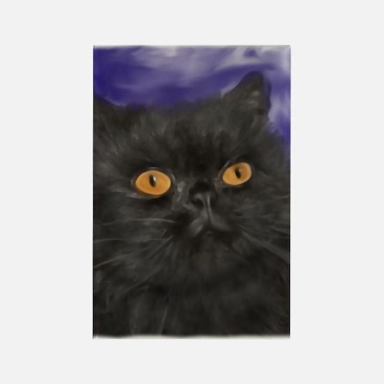 Cute Persian cat Rectangle Magnet