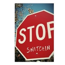 Stop Snitchin Postcards (Package of 8)