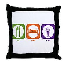 Eat Sleep X-Ray Throw Pillow