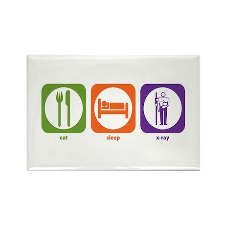 Eat Sleep X-Ray Rectangle Magnet