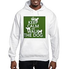 Keep Calm and Walk The Dog Hoodie