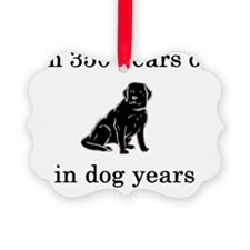 50 birthday dog years lab Ornament