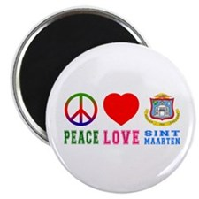 "Peace Love Sint Marteen 2.25"" Magnet (100 pack)"
