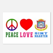 Peace Love Sint Marteen Postcards (Package of 8)