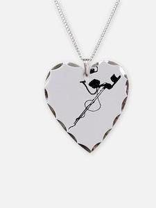 metal detector black Necklace