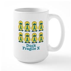 Fragile X Awareness Ribbon Ducks Mug
