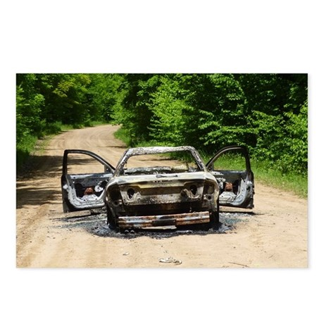 Burnt Car Postcards (Package of 8)
