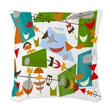 Atomic Funky Best C Clear Woven Throw Pillow