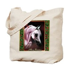 Arabian Horse Christmas Tote Bag