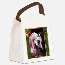 Arabian Horse Christmas Canvas Lunch Bag