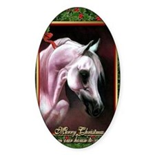 Arabian Horse Christmas Decal