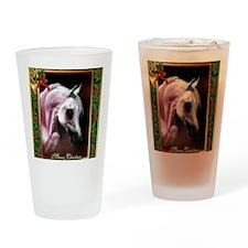 Arabian Horse Christmas Drinking Glass