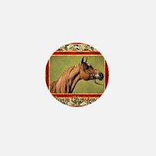 Arabian Horse Christmas Mini Button