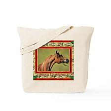 Arabian Horse Christmas Tote Bag