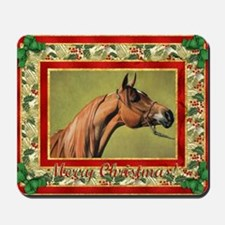Arabian Horse Christmas Mousepad