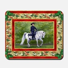 Arabian Horse Westsern Pleasure Christma Mousepad