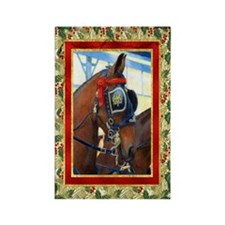 Cleveland Bay Horse Christmas Rectangle Magnet