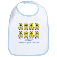 Esophageal Cancer Awareness Ribbon Ducks Bib