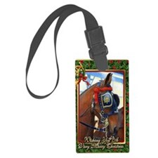Cleveland Bay Horse Christmas Luggage Tag