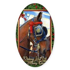Cleveland Bay Horse Christmas Decal