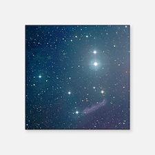 "Pleiades Ornaments set of 4 Square Sticker 3"" x 3"""