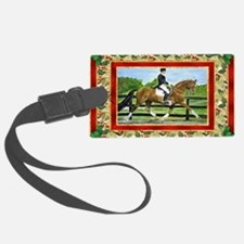 Dressage Horse Christmas Luggage Tag