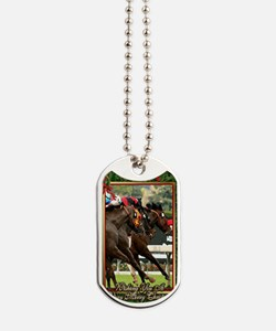 Thoroughbred Racehorse Christmas Dog Tags