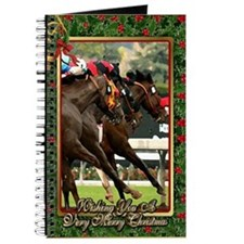 Thoroughbred Racehorse Christmas Journal