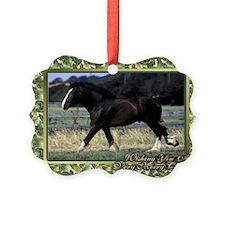 Shire Draft Horse Christmas Ornament
