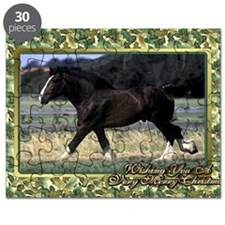 Shire Draft Horse Christmas Puzzle