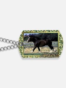 Shire Draft Horse Christmas Dog Tags
