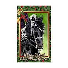 Freisian Dressage Horse Christ Decal