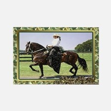 Paso Fino Horse Christmas Rectangle Magnet