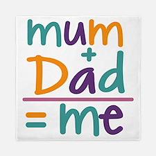 Mum + Dad = Me Queen Duvet