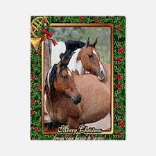 Paint Horse Christmas Twin Duvet