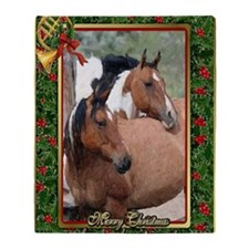 Paint Horse Christmas Throw Blanket
