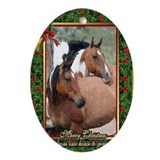 Horse christmas Oval Ornaments