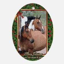 Paint Horse Christmas Oval Ornament