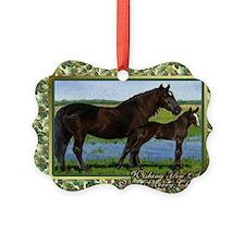 Percheron Mare And Foal Christmas Ornament