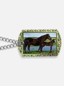 Percheron Mare And Foal Christmas Dog Tags